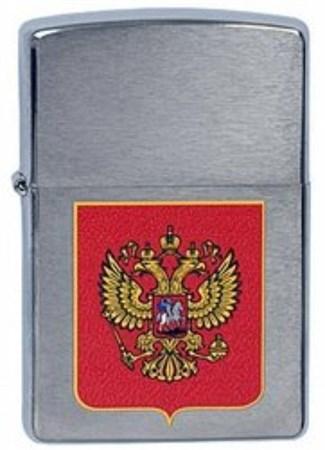 Широкая зажигалка Zippo 205 Cubes 200 Герб России - фото 4521