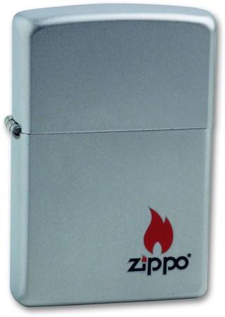 Широкая зажигалка Zippo С Покрытием Satin Chrome 205 ZIPPO - фото 4531