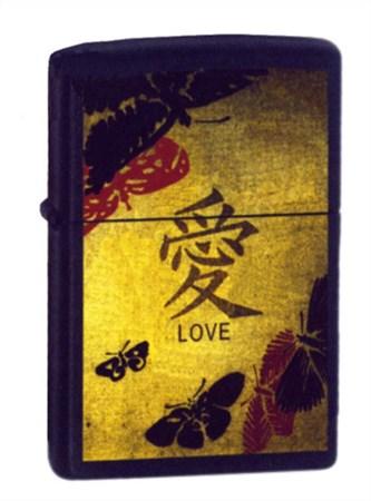 Широкая зажигалка Zippo Love Zippo 20839 - фото 4543