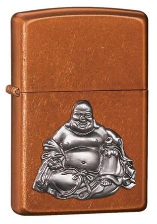 Широкая зажигалка Zippo Buddha 21195 - фото 4555