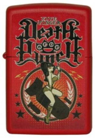 Широкая зажигалка Zippo Five Finger Death Punch 233 (Cl013373) - фото 4566