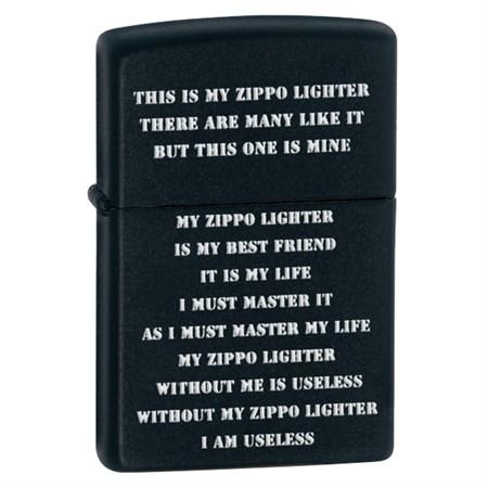 Широкая зажигалка Zippo ZPP CRD black matte 24710 - фото 4588