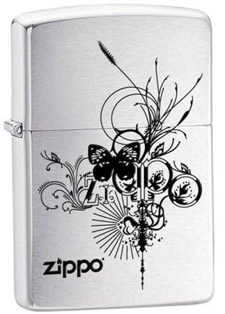 Широкая зажигалка Zippo Zippo Butterfly 24800 - фото 4596