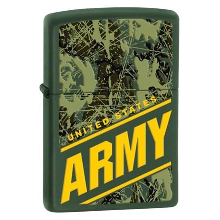 Широкая зажигалка Zippo ARMY/ green matte 24828 - фото 4599