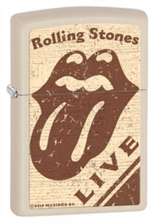Широкая зажигалка Zippo Rolling Stones 28018 - фото 4625