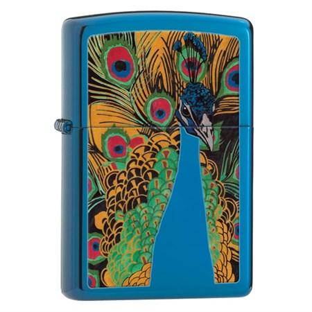 Широкая зажигалка Zippo Peacock Lighter 28035 - фото 4630