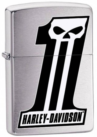 Широкая зажигалка Zippo Harley Davidson 28228 - фото 4646