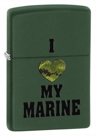 Широкая зажигалка Zippo Marines 28338 - фото 4681