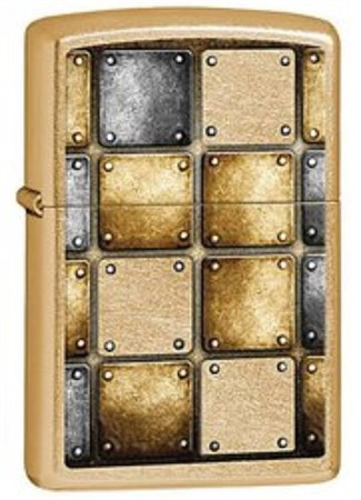 Широкая зажигалка Zippo Metal Design 28539 - фото 4730