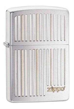 Широкая зажигалка Zippo Vertical Lines 28646 - фото 4744