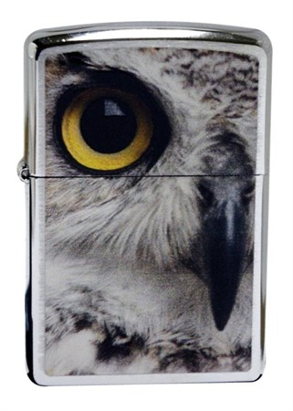 Широкая зажигалка Zippo Owl Face 28650 - фото 4746