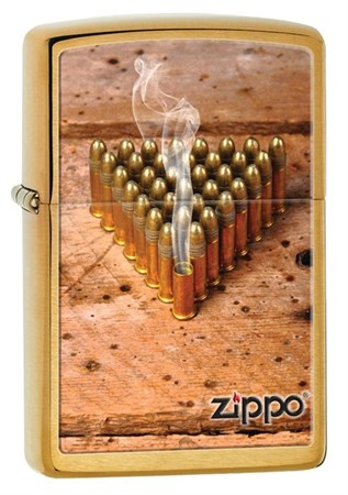 Широкая зажигалка Zippo Bullets 28674 - фото 4749