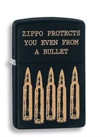 Широкая зажигалка Zippo Bullet 28762 - фото 4757