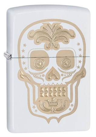 Широкая зажигалка Zippo Sugar Skull 28792 - фото 4765