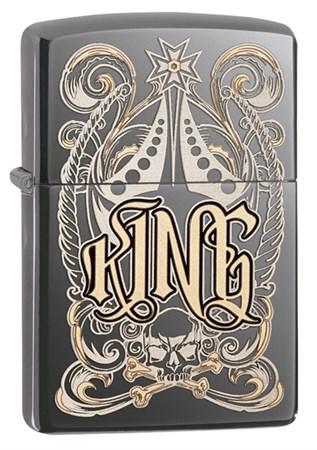 Широкая зажигалка Zippo King 28798 - фото 4768