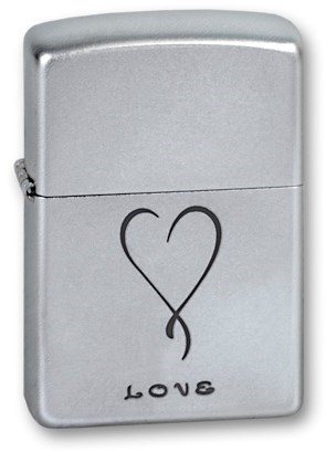 Широкая зажигалка Zippo 205 Love - фото 4808
