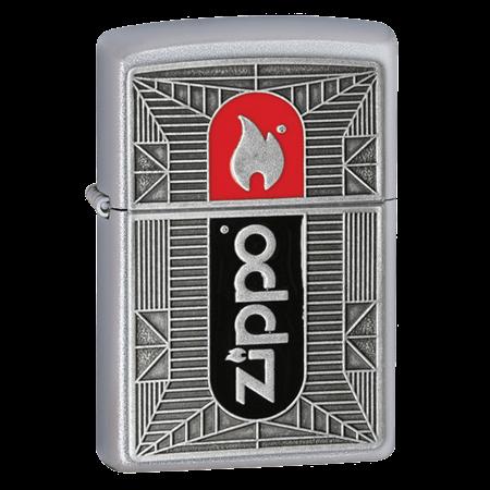 Широкая зажигалка Zippo Flame Emblem 24830 - фото 4825