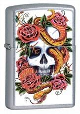Широкая зажигалка Zippo Blooming Death 24321 - фото 4826