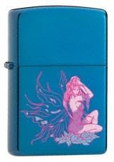 Широкая зажигалка Zippo Fluttering Fairy 24065 - фото 4881