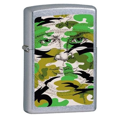 Широкая зажигалка Zippo Hidden Face 21005 - фото 4899