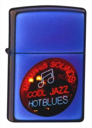 Широкая зажигалка Zippo Jazzin blues 20614 - фото 4905