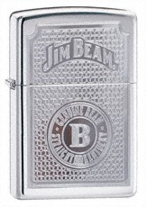 Широкая зажигалка Zippo Jim Beam Genuine 21181 - фото 4911