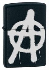 Широкая зажигалка Zippo More Anarchy 24334 - фото 4924