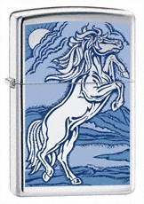 Широкая зажигалка Zippo Rampant stallion 21162 - фото 4949
