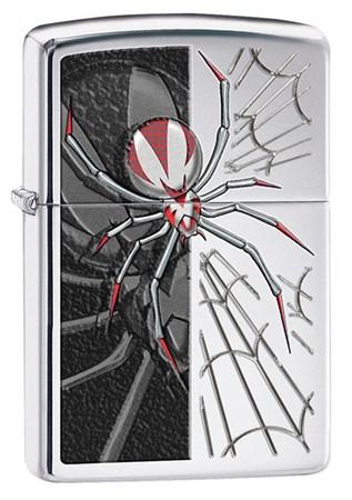 Широкая зажигалка Zippo Red-legged Spider 28795 - фото 4952