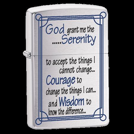 Широкая зажигалка Zippo Serenity Prayer 24355 - фото 4960