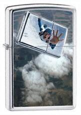 Широкая зажигалка Zippo Skydiver 24348 - фото 4963