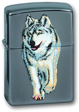Широкая зажигалка Zippo Wolf 769 - фото 4983