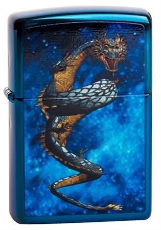 Широкая зажигалка Zippo Dragon in space 20446 - фото 5055