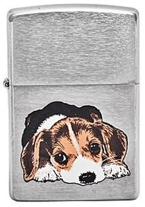 Широкая зажигалка Zippo Beagle Pup 200 - фото 5087
