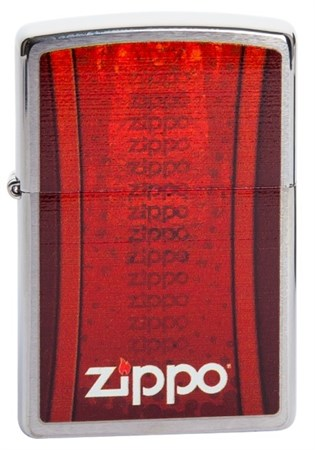 Широкая зажигалка Zippo Logo Z -2 200 - фото 5123