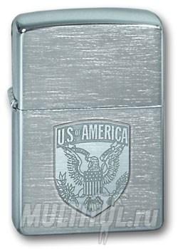Широкая зажигалка Zippo US of America 200 - фото 5153