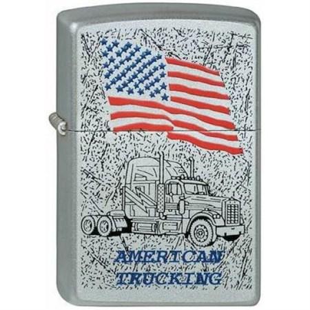 Широкая зажигалка Zippo American Trucking 3 205 - фото 5227