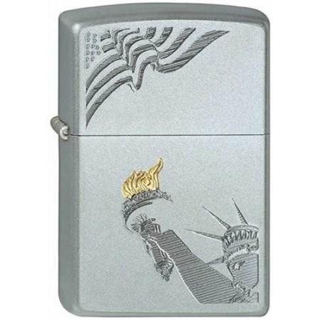 Широкая зажигалка Zippo Lady Liberty 205 - фото 5259