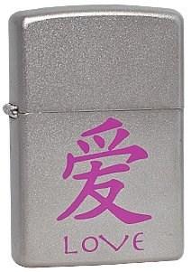 Широкая зажигалка Zippo Love chinese 205 - фото 5269