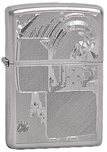 Широкая зажигалка Zippo Mood Lighter 205 - фото 5278