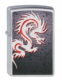 Широкая зажигалка Zippo Tattoo Dragon 205 - фото 5304