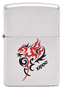 Широкая зажигалка Zippo Tribal Dragon 205 - фото 5310