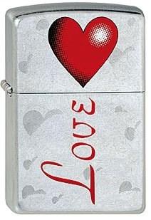 Широкая зажигалка Zippo Love 207 - фото 5324
