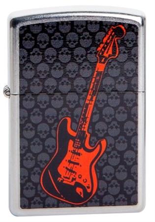 Широкая зажигалка Zippo Guitar Skulls 218 - фото 5346