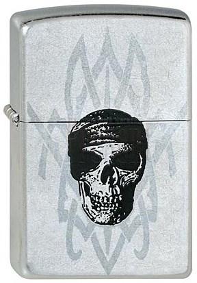 Широкая зажигалка Zippo Pirate Skull 225 - фото 5358