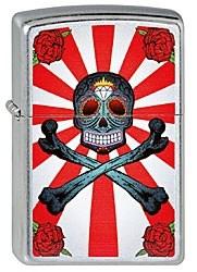 Широкая зажигалка Zippo Skull crossbones 230 - фото 5368