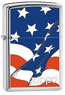 Широкая зажигалка Zippo Wavy Flag 21164 - фото 5408