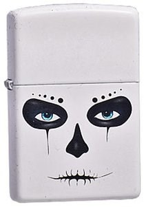 Широкая зажигалка Zippo Skull Mask 214 - фото 5446