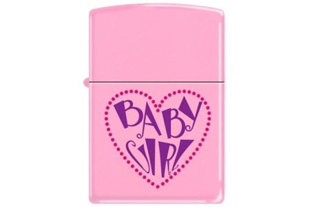 Широкая зажигалка Zippo Baby Girl Heart 238 - фото 5528