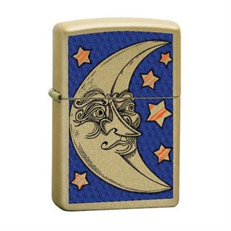 Широкая зажигалка Zippo Face-Moon 24444 - фото 5568